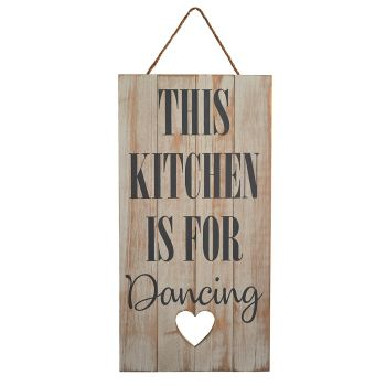 This kitchen is for dancing fun wall sign