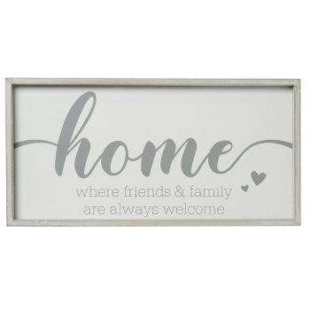 Framed Home sign