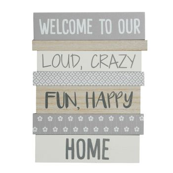 Multi-panel home sign ' Welcome to our… Home '