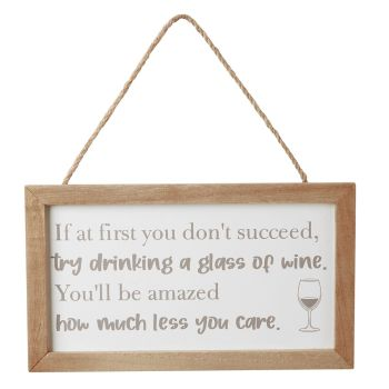 'If at first you don't succeed...' framed funny drinking sign