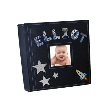 Personalised Album with embroidered letters