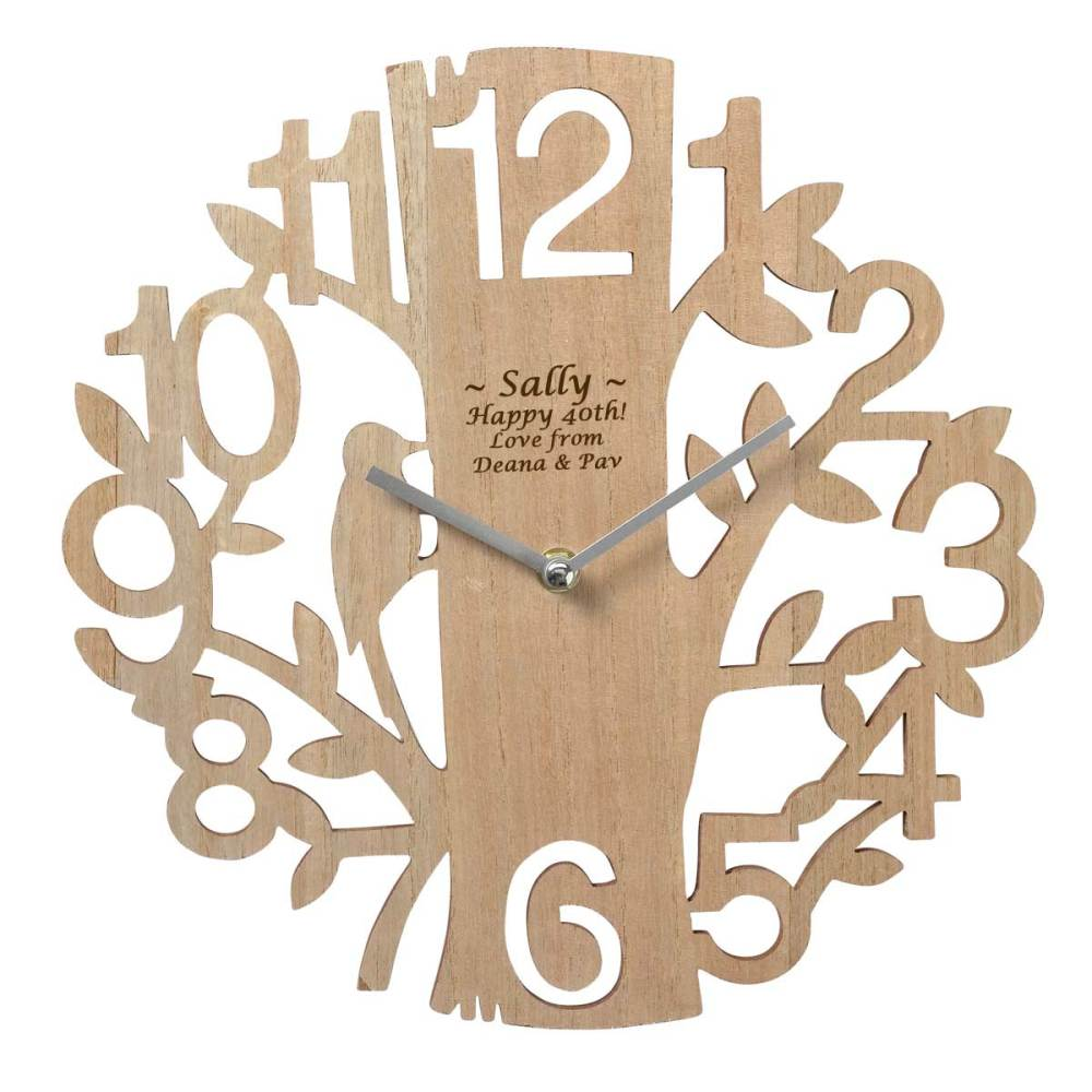 Personalised Wooden Wall Clock