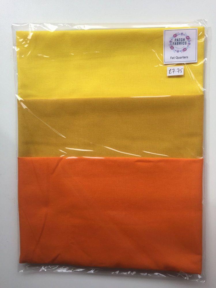 Fat Quarters | Yellow & Orange