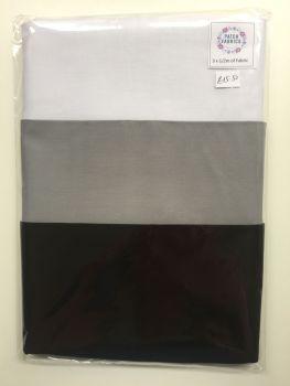 Half Meter Packs | Plain white/Black/Grey