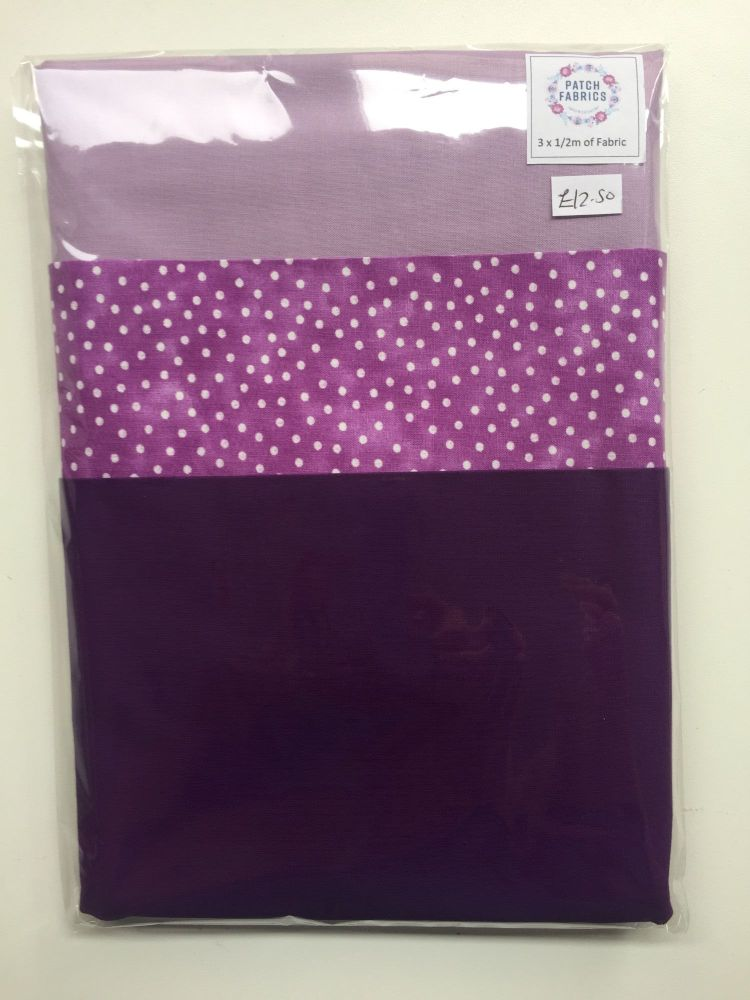 Half Meter Packs | Purple Pattern