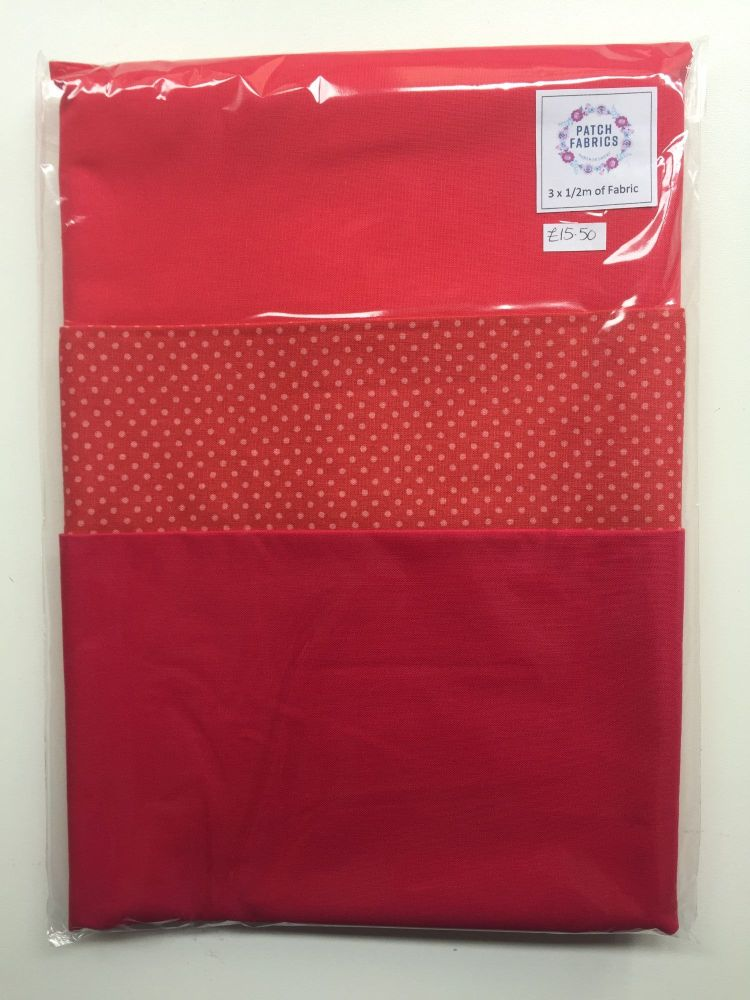 Half Meter Packs | Pink Spots