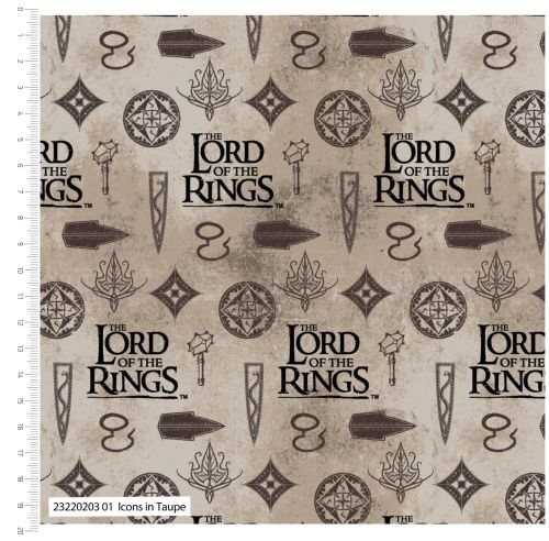 Lord Of The Rings  Icons On Taupe