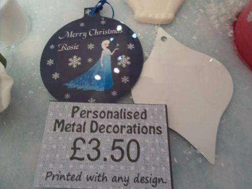 Personalised Christmas Tree Decoration Ornaments