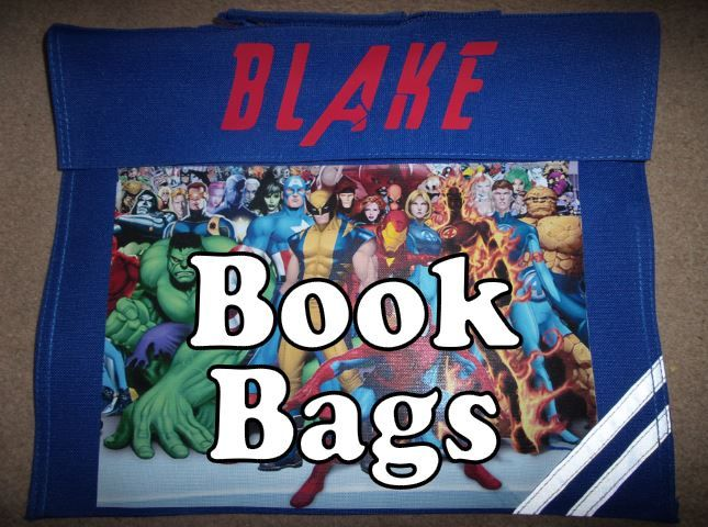 Personalised book bags bookbags