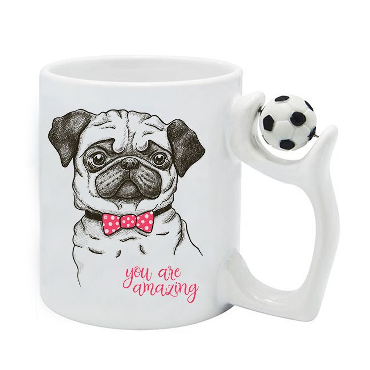 Personalized-sublimation-football-handle-ceramic-coffee-mugs