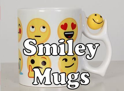 smiley emoji personalised mugs