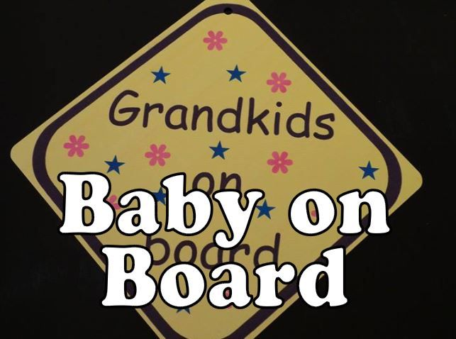 personalised baby on board hanging car sign