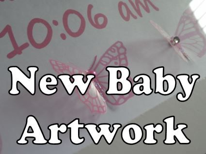 personalised artwork for new baby with name, date of birth and baby's weight