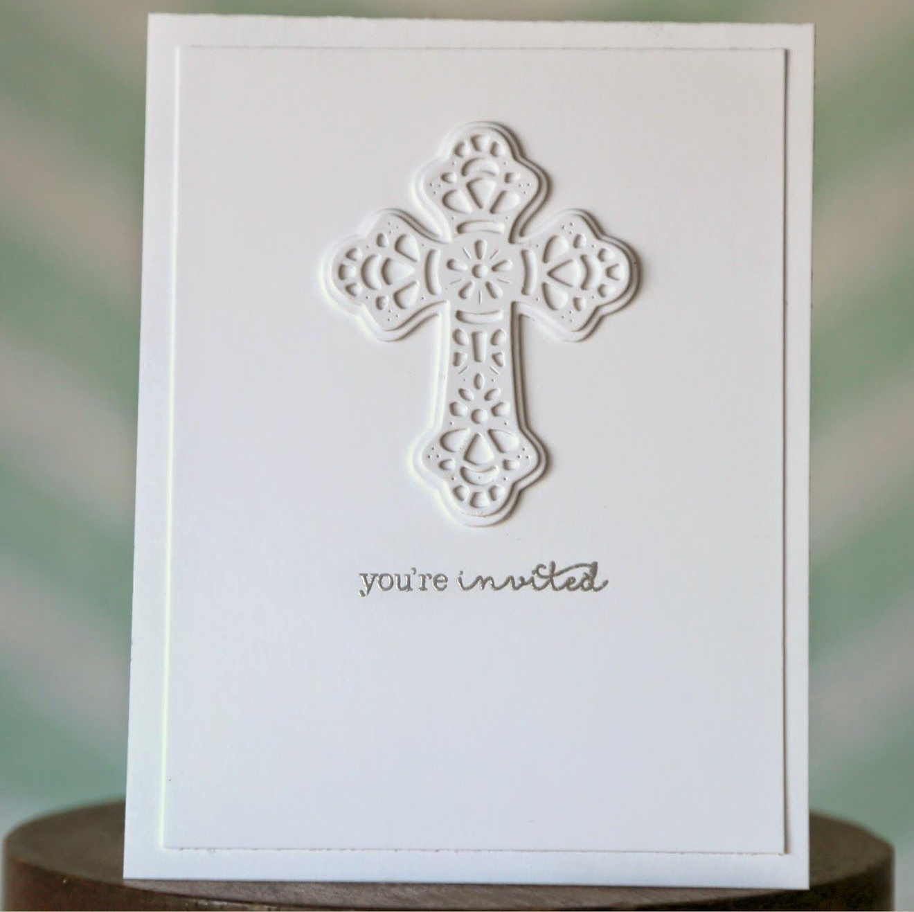 First Communion Invitations with Cross