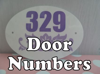 personalised house door number signs