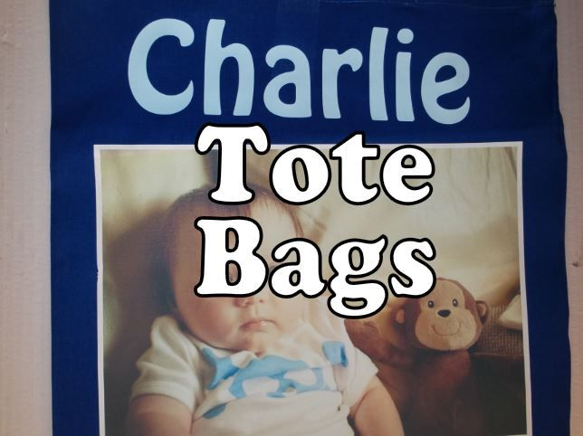 personalised tote shopping bags