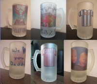 Personalised Glass Beer Tankards