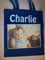 Personalised cotton shopping bag