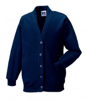 Girls Navy Blue Cardigan with DPS Logo