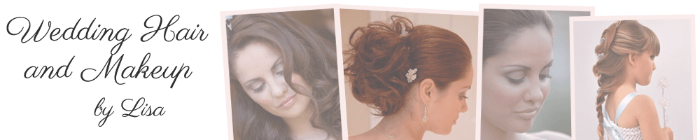Wedding Hair and Makeup by Lisa , site logo.