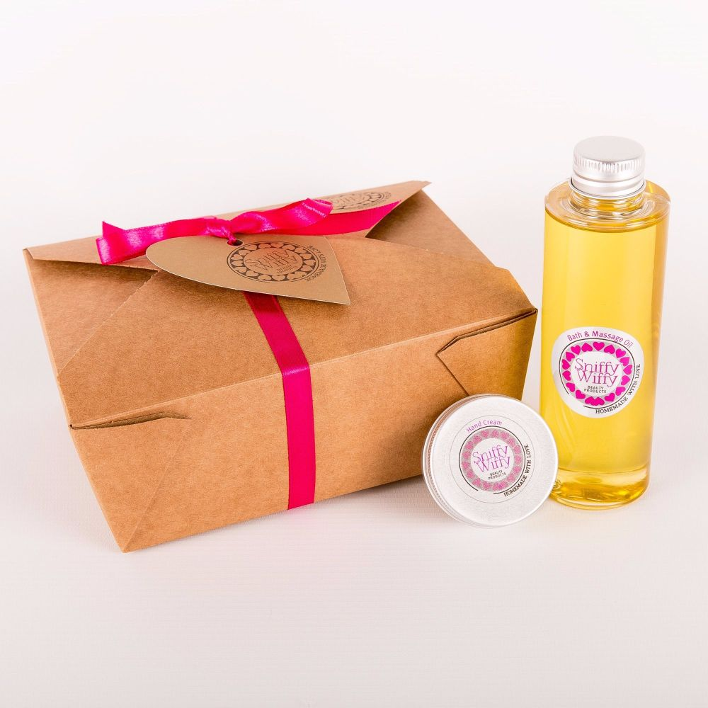 Bath & Massage Oil/Mini Hand Cream Set