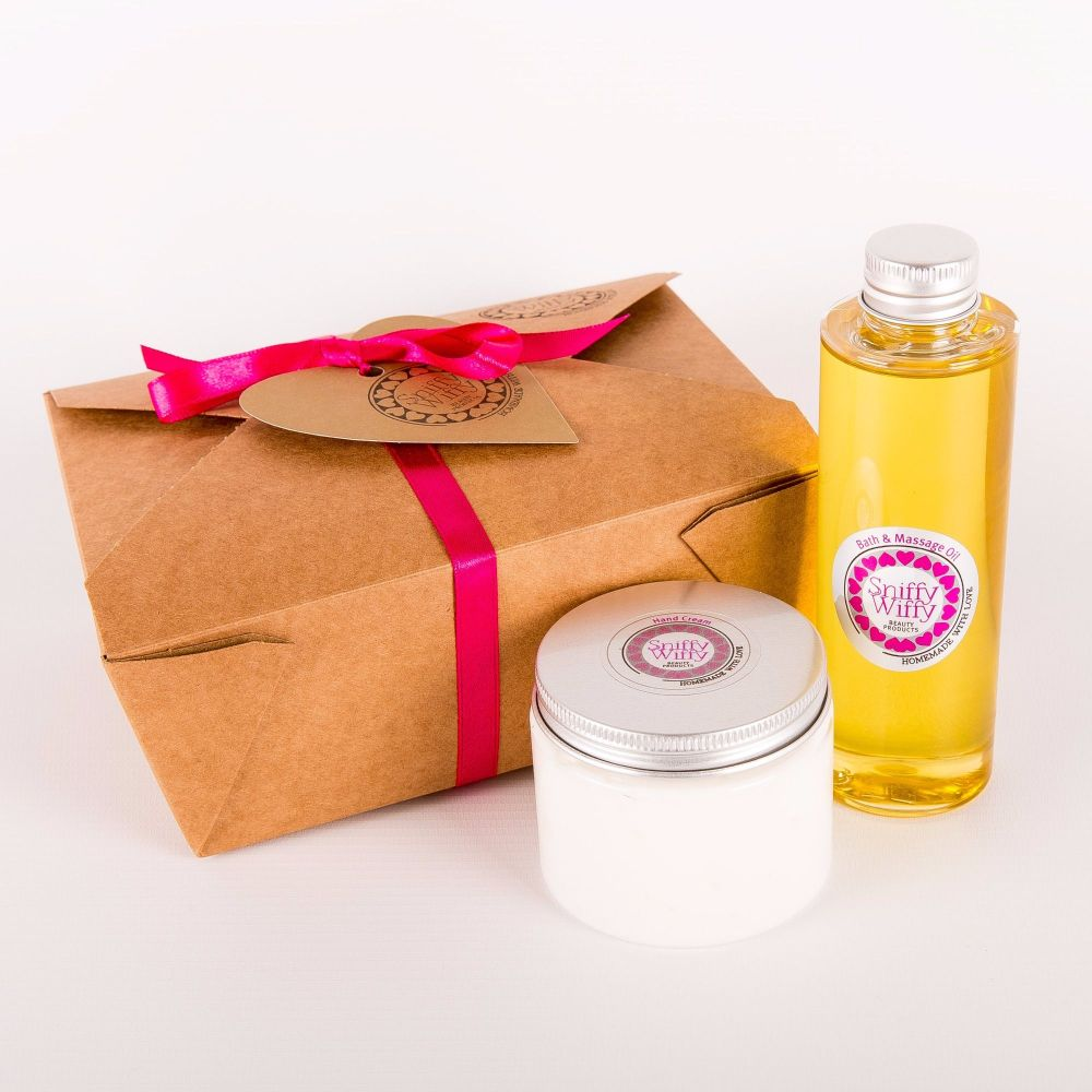 Bath & Massage Oil/Hand Cream Set
