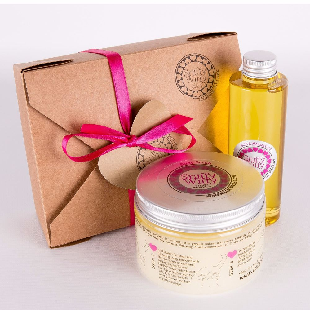 Bath & Massage Oil/Classic Body Scrub Set
