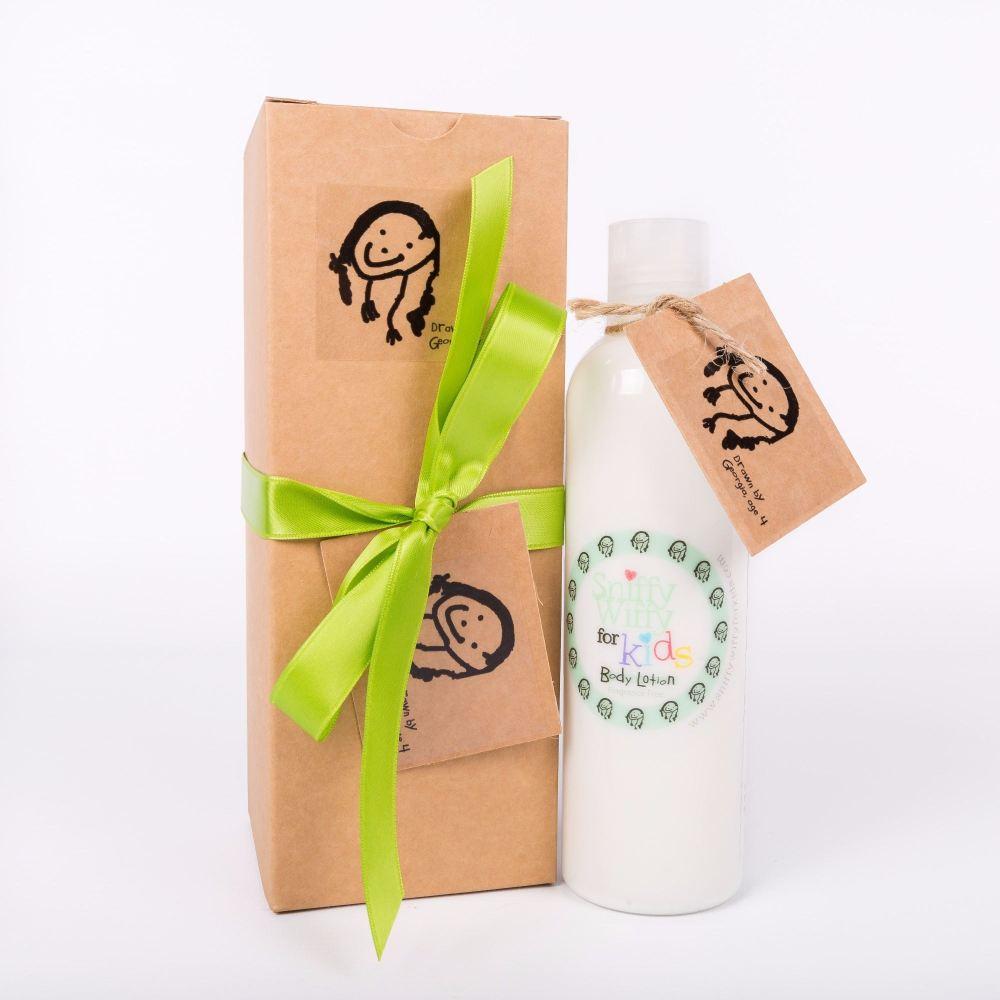 Gift Boxed Body Lotion 250ml bottle - Meningitis signs & symptoms label