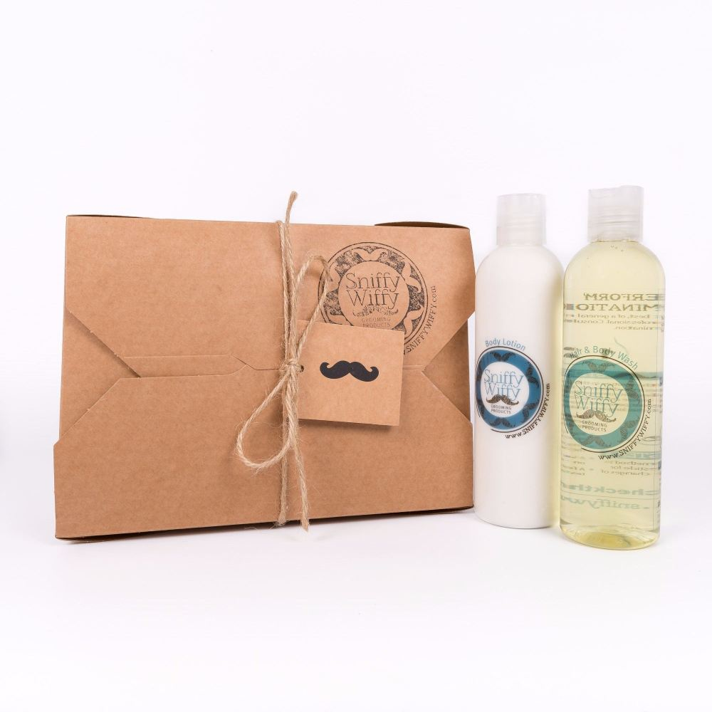 Male Hair & Body Wash/Body Lotion Set