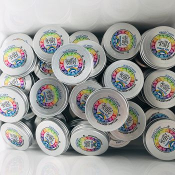 Gift Donation of 100 x mini Hand Creams plus 3 free 120ml tubs