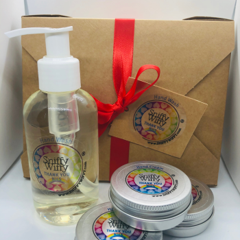 Gift Boxed Hand Wash & 3 mini Hand Creams