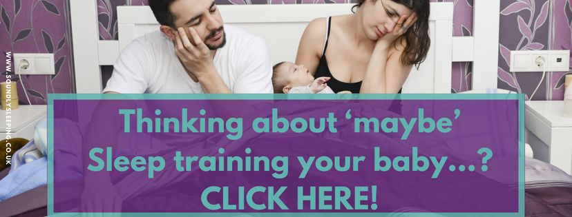 tHinking about 'maybe'Sleep training your baby....._