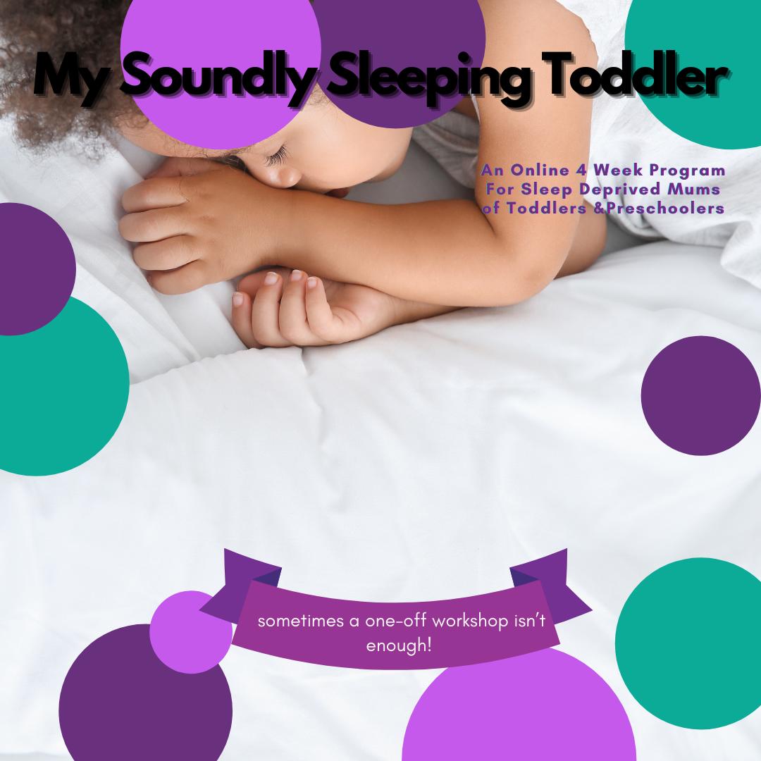 My Soundly Sleeping Toddler 4 week Online Workshop