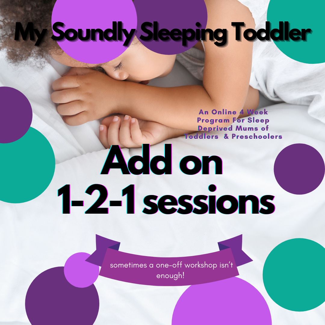 My Soundly Sleeping Toddler 4 week Online Workshop  With Added Support Call