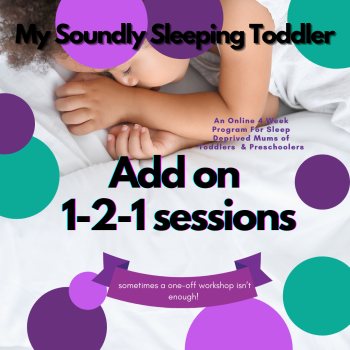 My Soundly Sleeping Toddler 4 week Online Workshop  With Added Support Calls