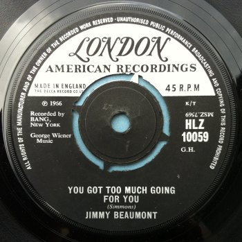 Jimmy Beaumont - You got too much going for you - UK London - VG++