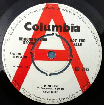Major Lance - I'm so lost - UK Columbia DEMO - Ex