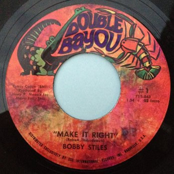Bobby Stiles - Make it right - Double Bayou - M-