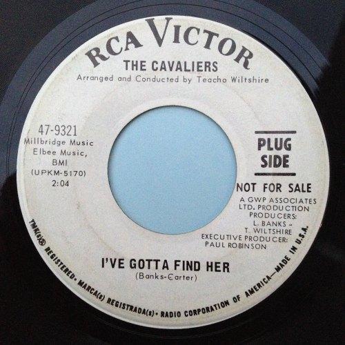 Cavaliers - I've gotta find her - RCA Promo - Ex-