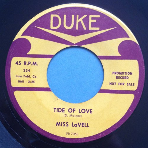 Miss Lavell - Tide of love - Duke - Ex-