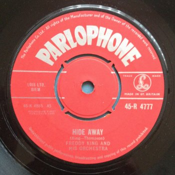 Freddy King - Hideaway - UK Parlophone - Ex