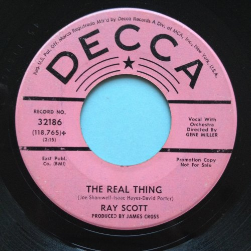 Ray Scott - The real thing - Decca promo - VG+