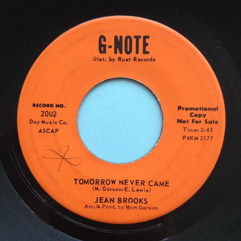 Jean Brooks - Tomorrow never came - G-Note Promo - Ex