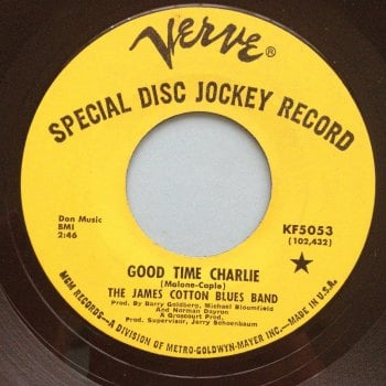 James Cotton Blues Band - Good time Charlie - Verve Promo - VG++