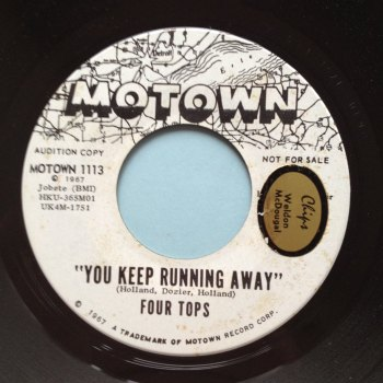 Four Tops - You keep running away - Motown Promo - Ex (sol)