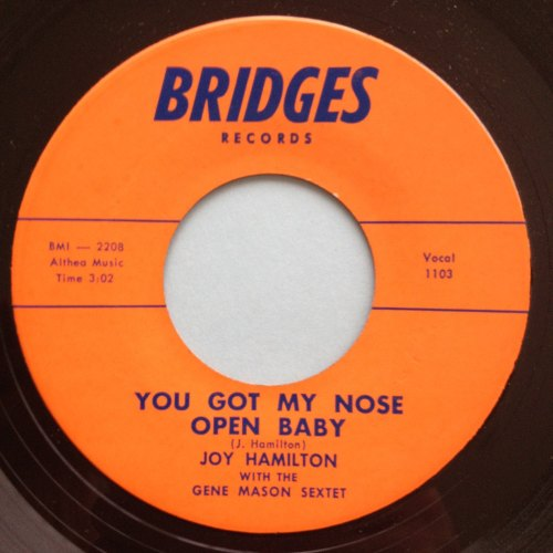 Joy Hamilton - You got my nose open baby - Bridges - M-