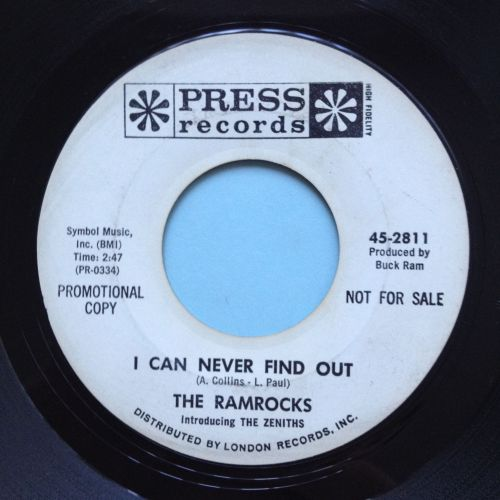 Ramrocks - I can never find out - Press promo VG+