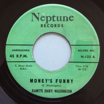 Jeanette 'Baby' Washington - Money's funny - Neptune - Ex