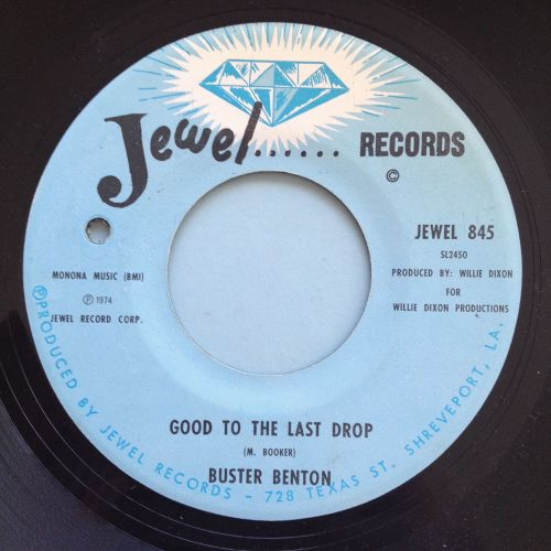 Buster Benton - Good to the last drop - Jewel - Ex (d/h)