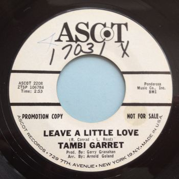 Tambi Garret - Leave a little love - Ascot promo (wol) - Ex